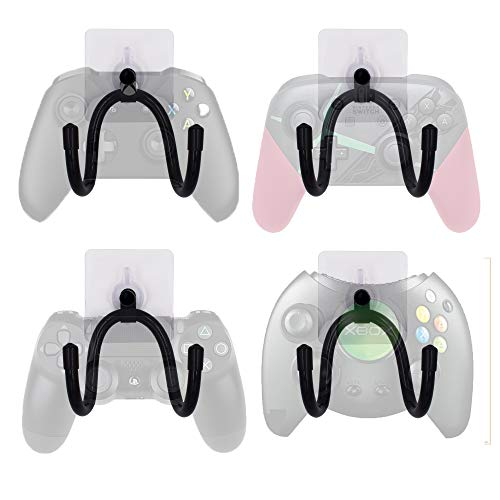 Photo of YYST Self -Adhesive Game Controller Wall Mount Storage Organizer Hanger for Game Controller, Headphone, Cables,etc- 4/PK