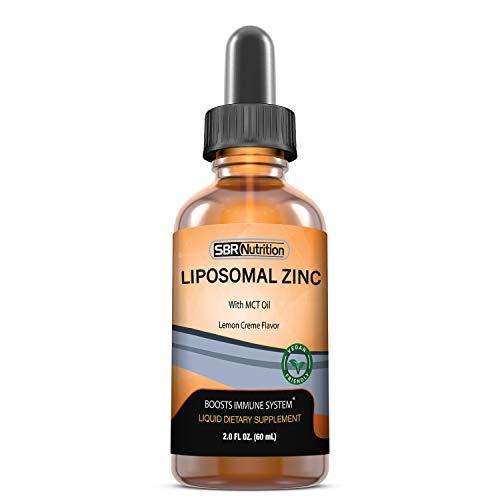 SBR Nutrition Liquid Liposomal Zinc with MCT Oil, Immune and Metabolic...
