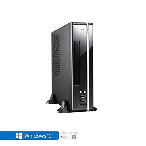 Sedatech Office Mini-PC, passiv gekühlt, Intel J3455 Quad Core, 8 GB RAM DDR3 1600Mhz, 250 GB SSD, 1 TB HDD, DVD-RW, USB 3.0, HDMI2.0, 4K Grafik Aulösung. Rechner mit Windows 10 64 Bit