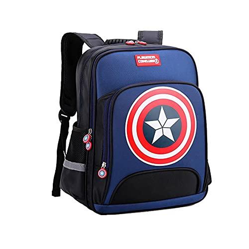 BCCDP Marvel Avengers Mochila Niño, Mochila para Deporte Viaje Colegio, Adecuado: Grados 3-6 (Altura 130 cm ~ 160 cm) Regalos para Niños Adolescentes