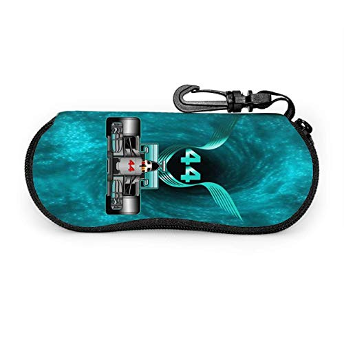 HHJJI Rennfahrer Champio Lewis Hamilton 44 Brillenetui Sonnenbrille Softbox Ultraleichte tragbare Neopren-Reisemode