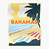 WolfTacticalusa Travel Paradise Vintage Beach Towel Bahamas
