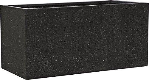 Esteras 8520623157 Smartline Buren 57 Black rectangular planter, 57 x 27 x 27 cm, 35 litres