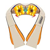 R Rothania Shiatsu Pillow Massager with Heat Electric Pillow Back & Neck Massager for Stress Relief & Ultimate Relaxation, Lower Back & Shoulder Massage Great Gifts for Parents-Orange