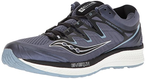 Saucony Men's Triumph ISO 4 Running Shoe, Grey/Black, 10.5 Medium US