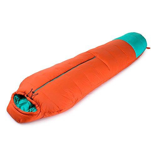 QFFL shuidai Sac de Couchage Momie/Adultes Camping en Plein air/Épaissir Le Sac de Couchage créatif en Coton d'hiver avec Sac de Compression (2 Couleurs Disponibles) 210 * 80 (50) cm