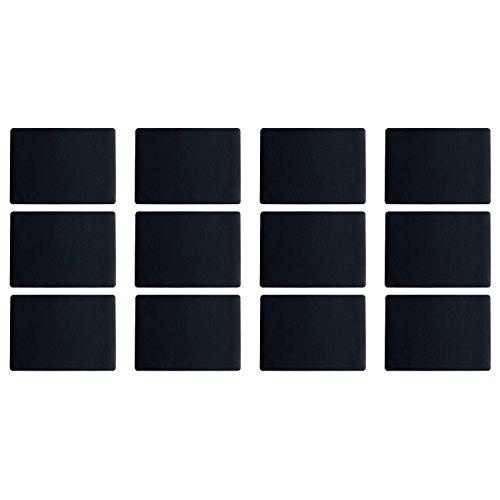 ASA Selection 7805420 table top Lederoptik Tischset, 46 x 33 cm, Kunststoff, schwarz (12er Pack)