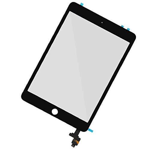 B Baosity Replacement Touch Screen Digitizer For Ipad Mini-3 + Clamp Ic Flex Cable Black