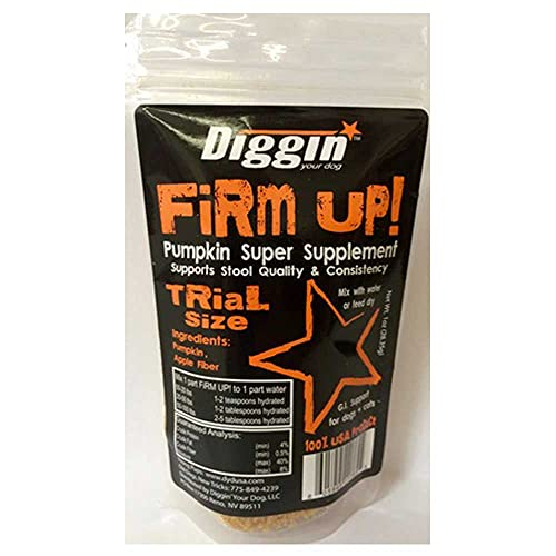 Diggin  Your Dog Firm Up Pumpkin Super Supplement for Digestive Tract Health for Dogs  1-Ounce