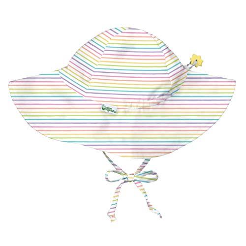iplay by green sprouts - Sombrero de protección solar - Rainbow Pinstripe - 0-6 meses