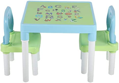 Cocoarm Table and Chair Set Childs ABC Alphabet Childrens Plastic Kids Toddlers Toy Table and product image