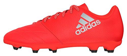 adidas X 16.3 FG J Leather, Botas de fútbol para Niños, Rojo (Rojsol/Plamet/Roalre), 38 2/3 EU