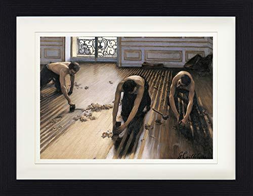1art1 Gustave Caillebotte - Die Parkettschleifer, 1875 Gerahmtes Bild Mit Edlem Passepartout | Wand-Bilder | Kunstdruck Poster Im Bilderrahmen 40 x 30 cm