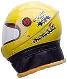 ewrwrwr Motorrad Kind Baby Warmer Helm Kinderschal Helm abnehmbar-Gelb