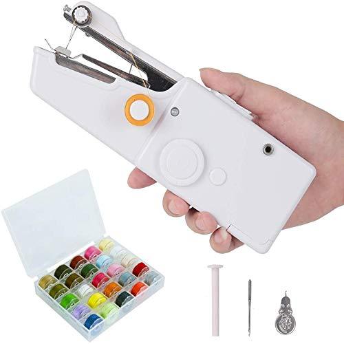 Mini Draagbare Naaimachine, Handheld Naaimachine Elektrische Steek Huishoudelijk Hulpmiddel Voor Kinderkleding, Stof, Thuisgebruik