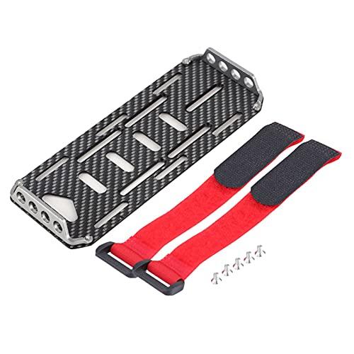 RC Auto Batterieplatte, Kohlefaser Batterie Montageplatte mit Krawatte Kompatibel für 1/10 Traxxas Hsp Redcat Rc 4wd Tamiya Axial scx10 D90 HPI Batterie