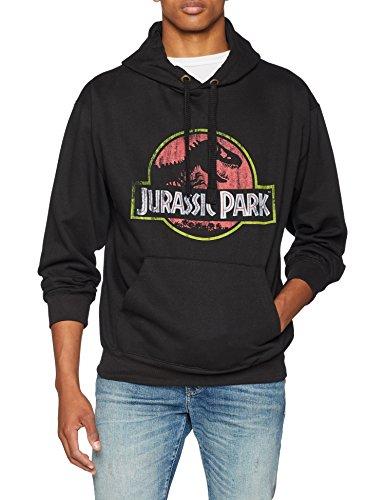 Jurassic Park Distressed Logo T-Shirt Uomo