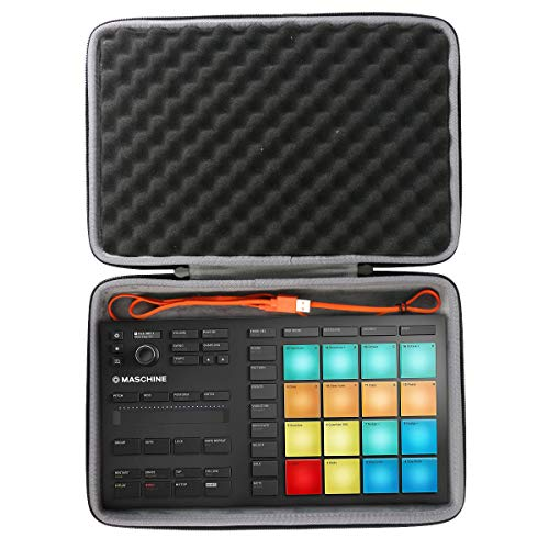 co2crea Hard Travel Case for Native Instruments Maschine Mikro Mk3 Drum Controller
