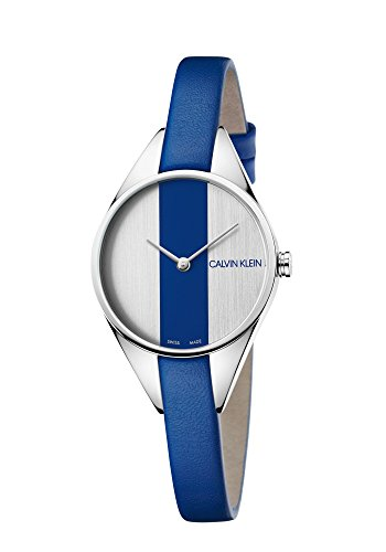 Calvin Klein dames analoog kwarts horloge met lederen armband K8P231V6