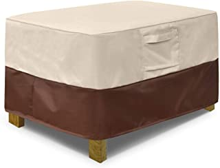 Vailge Rectangle Patio Ottoman Cover, Waterproof Outdoor Ottoman Cover with Padded Handles, Patio Coffee Table Cover, Heav...