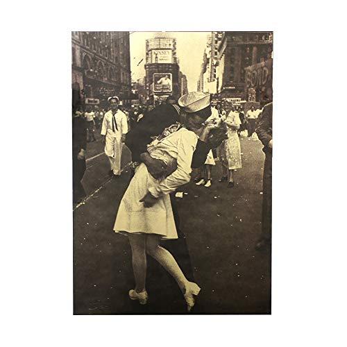 Romote 1pc Beso de la Victoria del clásico Papel Kraft Retro Cartel de película clásico del Cartel del Arte de Papel para Bar decoración del hogar