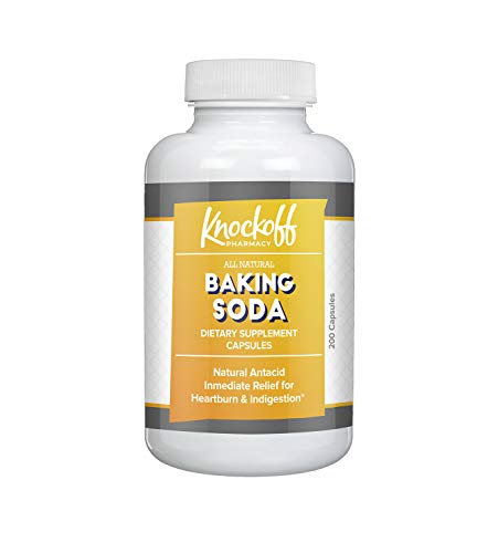 Baking Soda Antacids by Knock Off Pharmacy, All-Natural Antacid for Acid Indigestion, Heartburn