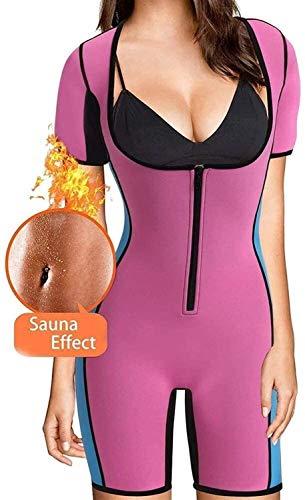 MFFACAI Mujeres Neopreno Cuerpo Completo Talladora pérdida de Peso Sudor Sauna Traje Cintura Entrenador Chaleco (Color : Pink, Size : XXL)
