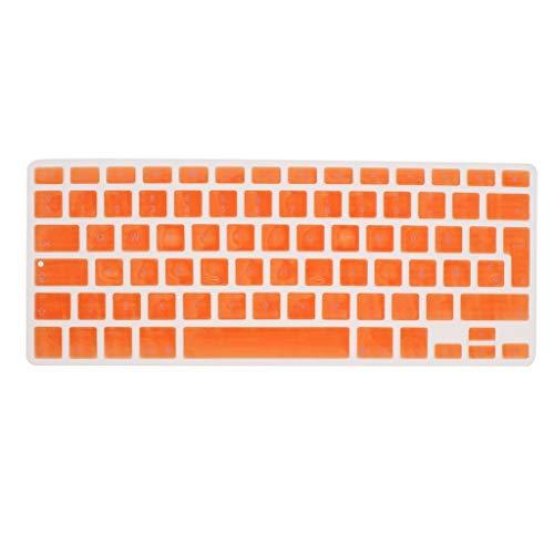 Shiwaki Dänische Phonetische Tastatur Schutzhülle, Kabellose Tastatur Schutzhülle Für 13,3 Zoll 15pro MacBook - Orange