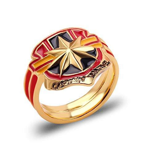 BQZB Ring Nuevos Avengers Infinity War Ring Infinity Gauntlet Anillos de Poder Carta Impresa a Mano Anillo Cristales para Hombres