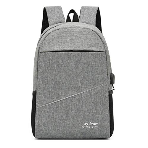 KKAAMYND Men's Business Backpack Korean Casual Students Elementary School Bag Simple And Fashionable 15.6-inch Computer Bag, light gray, Large capacity design: it can store your laptop, power bank a