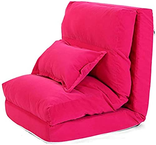 MDBLYJ Lazy Sofa Klappboden Sofa Home Office Lounge Stuhl Bay Fenstersessel, (Farbe   Rosa)