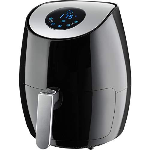 tectake 403353 Friggitrice ad Aria Calda 3.6 l, Robot Cucina, 2.6 Litri/1350W, Display Digitale, Touchscreen LED, Cassetto Removibile Cestello, Temperatura e Tempo Regolabili