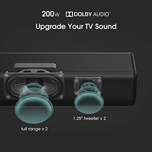 Hisense HS218 2.1ch Sound Bar with Wireless Subwoofer, 200W, Powered by Dolby Audio, Bluetooth, HDMI ARC/Optical/AUX/USB…
