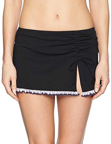 Profile by Gottex Women's Asymmetrical Side Tie Skirted Swimsuit Bottom, Romeo & Juliette Multi, 14