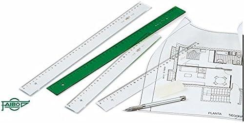 40% de descuento Faibo Reglas para dibujo dibujo dibujo técnico (50 cm.)  descuentos y mas
