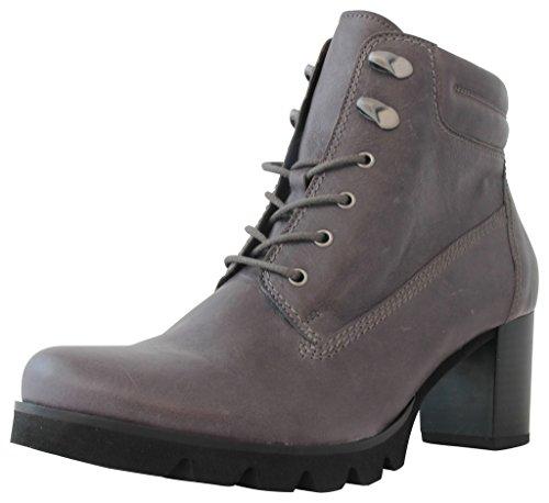 Gabor Fashion 35.781.59 Damen Stiefel/Stiefelette/Schnürstiefelette (Ankle Boots) mit Blockabsatz Leder Grau, EU 39.5