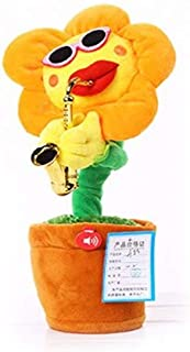 New Stuffed & Plush Plants - 30 cm Singing&Dancing Saxophone Sunflower Toys Soft Stuffed Flower Toys Dolls Teasing Cats Fu...
