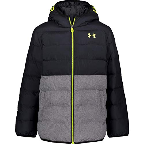 Under Armour Boys' Pronto Puffer Jacket, Black F202, YLG