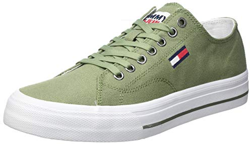 Tommy Jeans Herren Long LACE UP Vulc Lange Schnürung, Clean Green, 41 EU