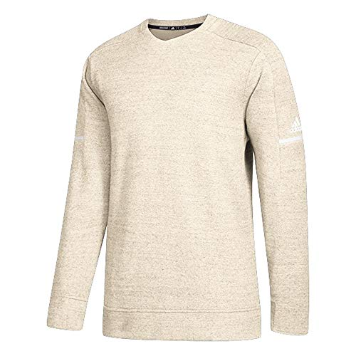 adidas Men's Athletics Team Icon Sweater, Cream White Melange/Onix, Large