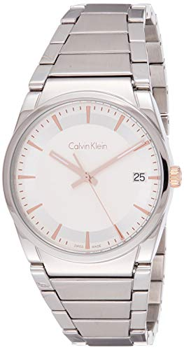 Calvin Klein Reloj Analógico para Hombre de Cuarzo con Correa en Acero Inoxidable K6K31B46
