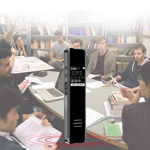 Portable Voice Recorder 8 GB Voice Recorder Mini Voice Recorder with Mini USB Port Audio Digital Pocket Dictaphone Tiny Portable Spy Gadget - Best Gift,8GB