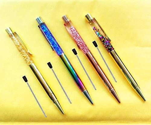 Pen Bling sets Pen Rhinestones Crystal Metal Ballpoint Pens Fine Black Ink Office Supplies(package of 4)