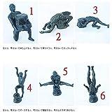 Magssdy Escultura Figuritas 6pcs / Set Figuras de Parodia de Escultura de Pensador Sin Pensador JAPÓN Real Cápsula de Juguete Decoración para el hogar-Multicolor