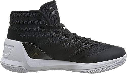 Under Armour Men's Curry 3 Basketball Shoes (1269279-006) (Black/White/White) (UK 15 / EU 50.5 / US 16 / cm 34.0)
