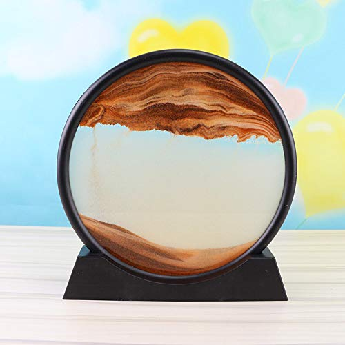 Leepesx Bewegtes Sandbild, Fließender Sand Treibsandmalerei Moving Sand Art Sandscapes Skulpturen Desktop-Kunst Bücherregale Dekoration 12/7 Zoll