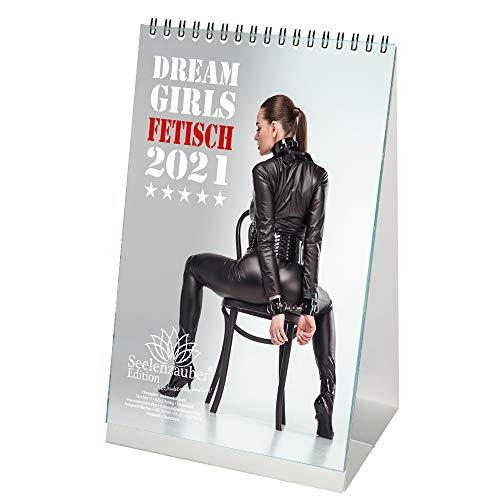 Sexy Fetisch Girls DIN A5 Tischkalender für 2021 Erotik - Geschenkset Inhalt: 1x Kalender, 1x Weihnachts- und 1x Grußkarte (insgesamt 3 Teile)