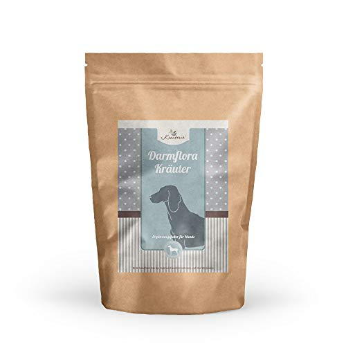 Magen-Darm-Flora Kräuter für Hunde in hochwertiger Qualität, frei von jeglichen Zusätzen, Hundekräuter zur Sanierung der Magen-Darm-Flora – 250 g GESCHNITTEN