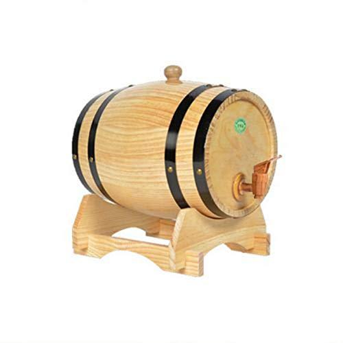 circulor 1,5 Liter Weinfass, Holzfass Personalisiert - Gravur - Eichen-Fass Für Whisky Oder Wein Eiche Kiefer Weinfass Weinlager Spezialfass