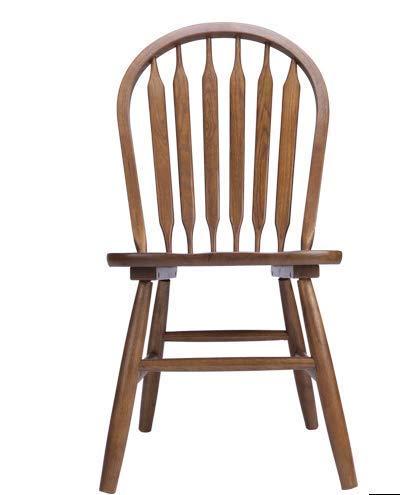 QWEA Sillas de Comedor, sillas de bambú de Madera Maciza Sillas de Comedor de Madera de Roble Antiguo Vintage Silla de Comedor de Madera Maciza con Respaldo de Granja Moderna con Asiento de ratá